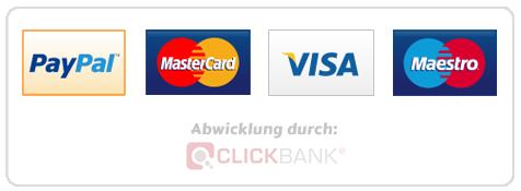 Paypal, MasterCard, Visa, MaestroCard (Clickbank)